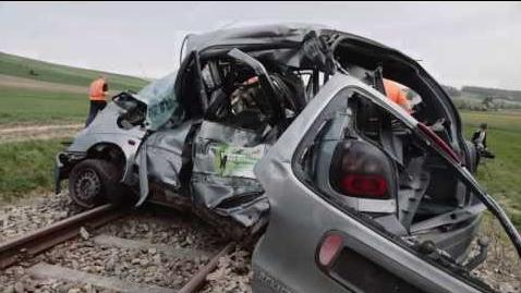 Crushed Minivan